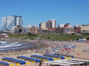 La ciudad de Mar del Plata, Argentina