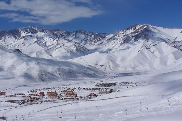 Las Leñas, una estación de esquí andino, en Mendoza, Argentina