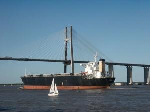 El puente Rosario-Victoria (Santa Fe, Argentina)