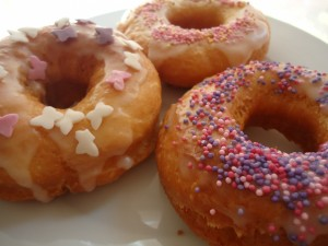 Donuts con sprinkles