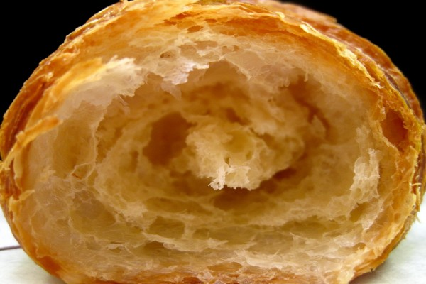 El interior de un croissant