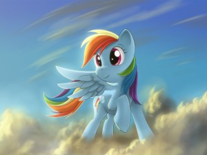 My Little Pony en las nubes