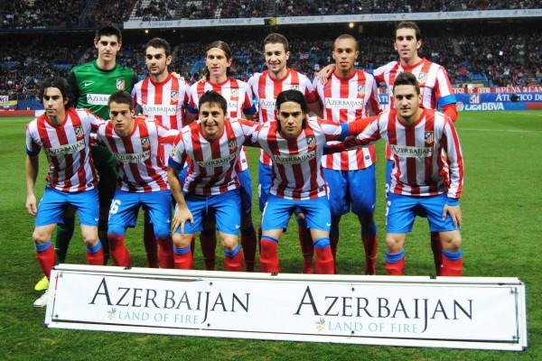 Alineación (2012) del Atlético de Madrid