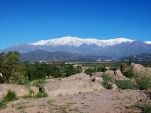 Sierra de Famatina desde Chilecito, La Rioja, Argentina