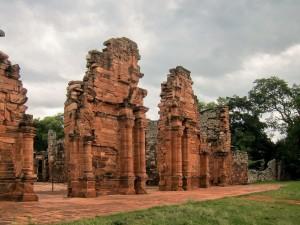 Ruinas de San Ignacio Miní, en la provincia de Misiones, Argentina