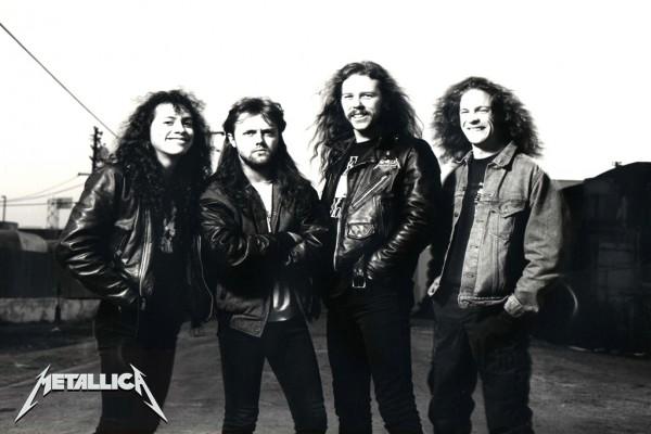 Los componentes del grupo Metallica