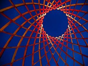 """Construcción artística llamada """"OVO"""", Luminale 2012 (Frankfurt, Alemania)"""