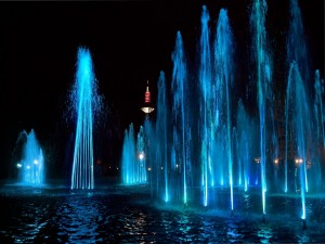 Baile de agua en Frankfurt, Alemania