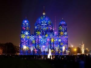 """Catedral de Berlín durante el """"Festival de la Luz 2012"""""""