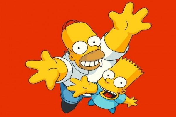 Homer y Bart Simpson