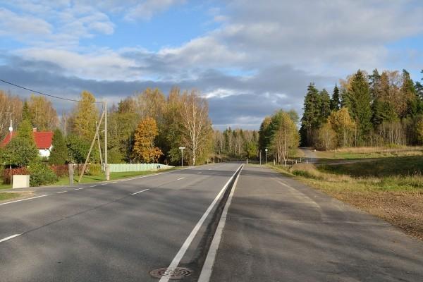 Carretera en Aegviidu, Estonia