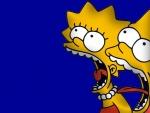 Lisa y Bart Simpson gritando