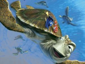 Postal: La tortuga Crush (Buscando a Nemo)