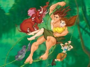 Postal: La versión de Disney de Tarzán