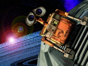 WALL-E con cara triste