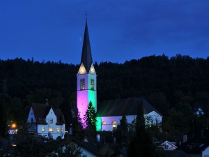 Postal: Iglesia Parroquial de San Nicolás, en Wolfurt, Austria