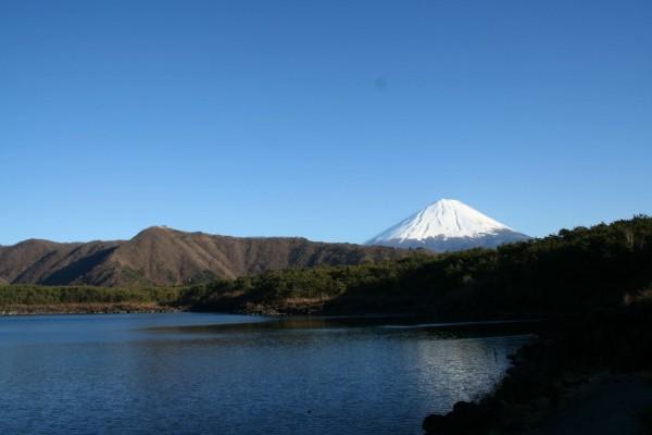 Lago cerca del Monte Fuji