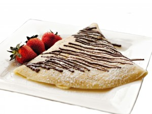 Crepe con chocolate