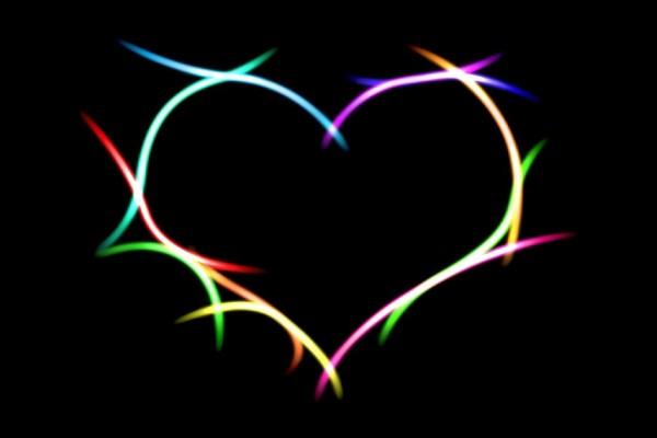 Corazón de luces de colores