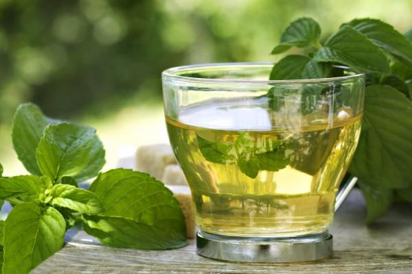 Infusión de té con hierbabuena