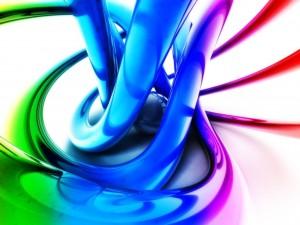 Chorros de pintura de colores