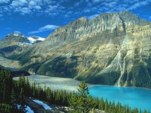 Postal: Lago glaciar Peyto, Parque Nacional Banff, Canadá