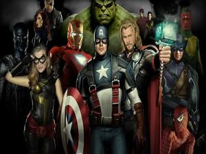 """Postal: Personajes de """"Los Vengadores"""" (The Avengers)"""