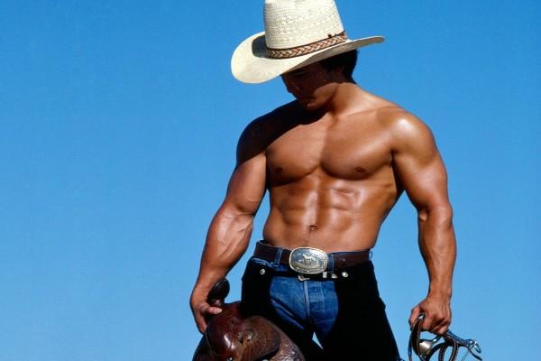 Cowboy musculoso