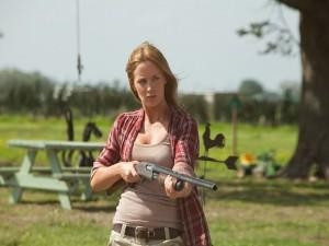 """Emily Blunt como Sara en """"Looper"""""""