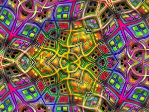 Formas y colores psicodélicos