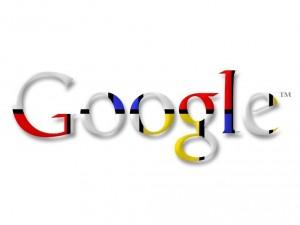 Logo de Google, en homenaje al pintor Piet Mondrian