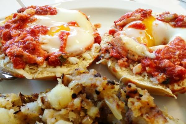 Bagels con huevo