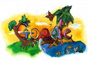 Postal: Doodle (logo de Google) realizado por Engelberth Christin (USA)
