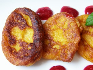 Postal: Dulces de fritura de calabaza (cocina cubana)
