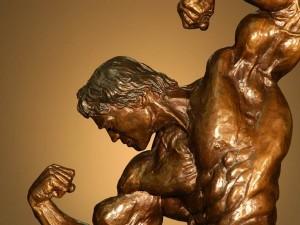 Escultura de bronce de Arnold Schwarzenegger
