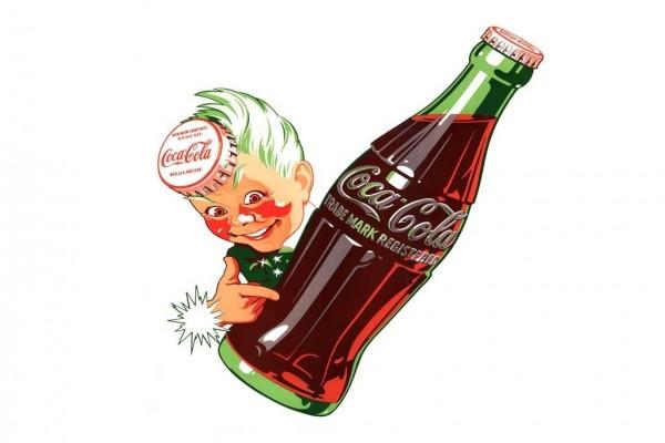 Antiguo anuncio de Coca-Cola