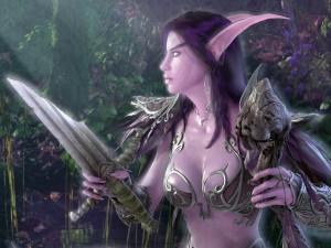 Postal: Guerrera elfa