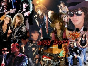Collage del grupo Bon Jovi