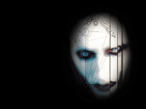 Postal: Retrato de Marilyn Manson
