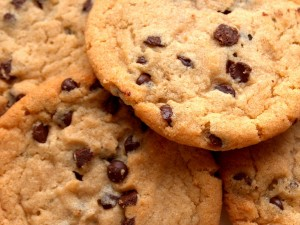 Postal: Grandes cookies con chips de chocolate