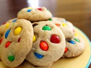 Postal: Cookies con M&M's