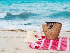 Postal: En la playa