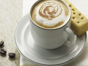 Café con leche y un bizcochito