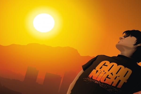 Chico mirando al sol
