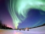 Aurora Boreal sobre el Lago Bear (Alaska, Estados Unidos)