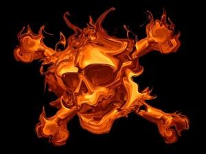 Calavera de fuego