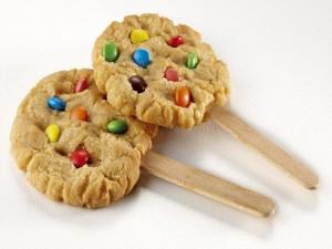 Postal: Piruletas de galleta