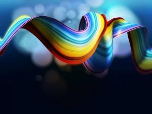 Postal: El arco iris doblado