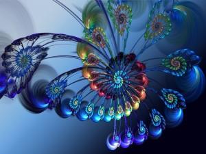 Espiral de plumas fractales