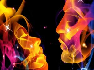 Postal: Beso de fuego